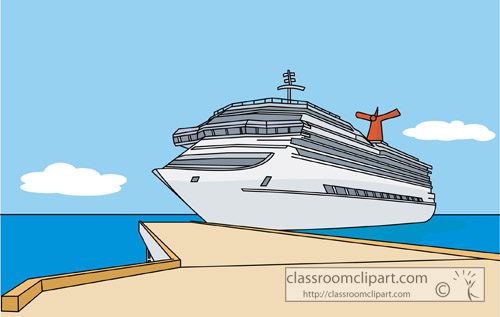 Cruise ship ship dock clipart kid