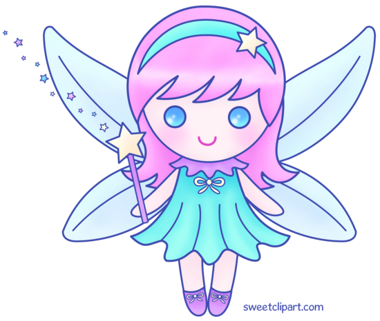 Cute pink fairy version 2 free clip art