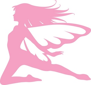 Fairy silhouette clipart kid 2