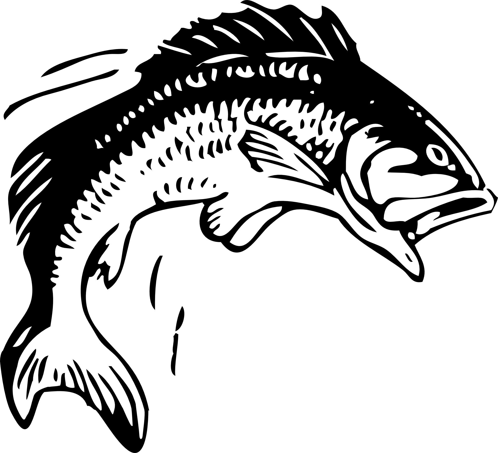 Fish  black and white fishing clipart black and white logo clipartfest