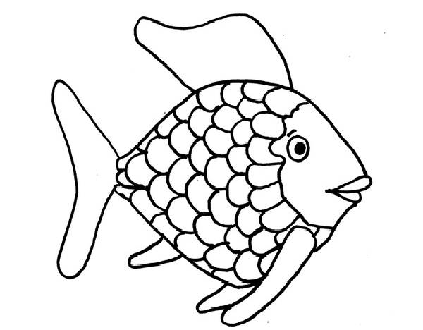 Fish  black and white rainbow fish clipart black and white 2