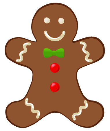Free gingerbread man clipart pictures clipartix 3
