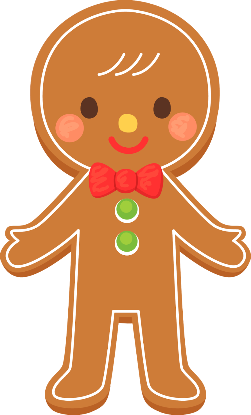 Gingerbread man clipart 3