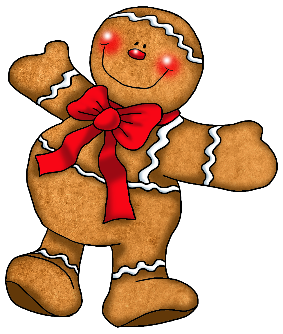 Gingerbread man clipart kid