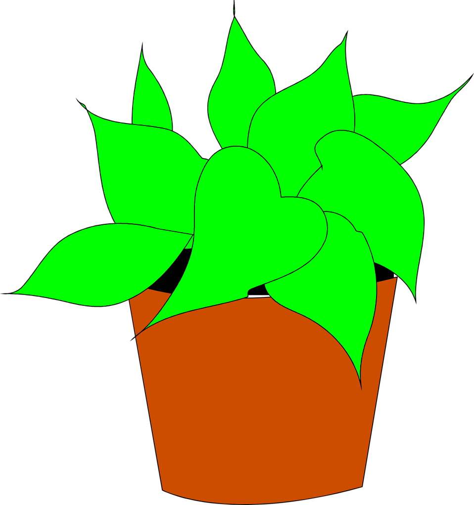 Potted plant clipart kid 2