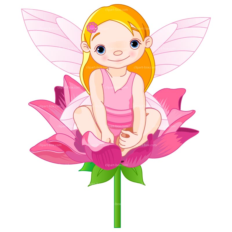 Printable fairy clipart kid