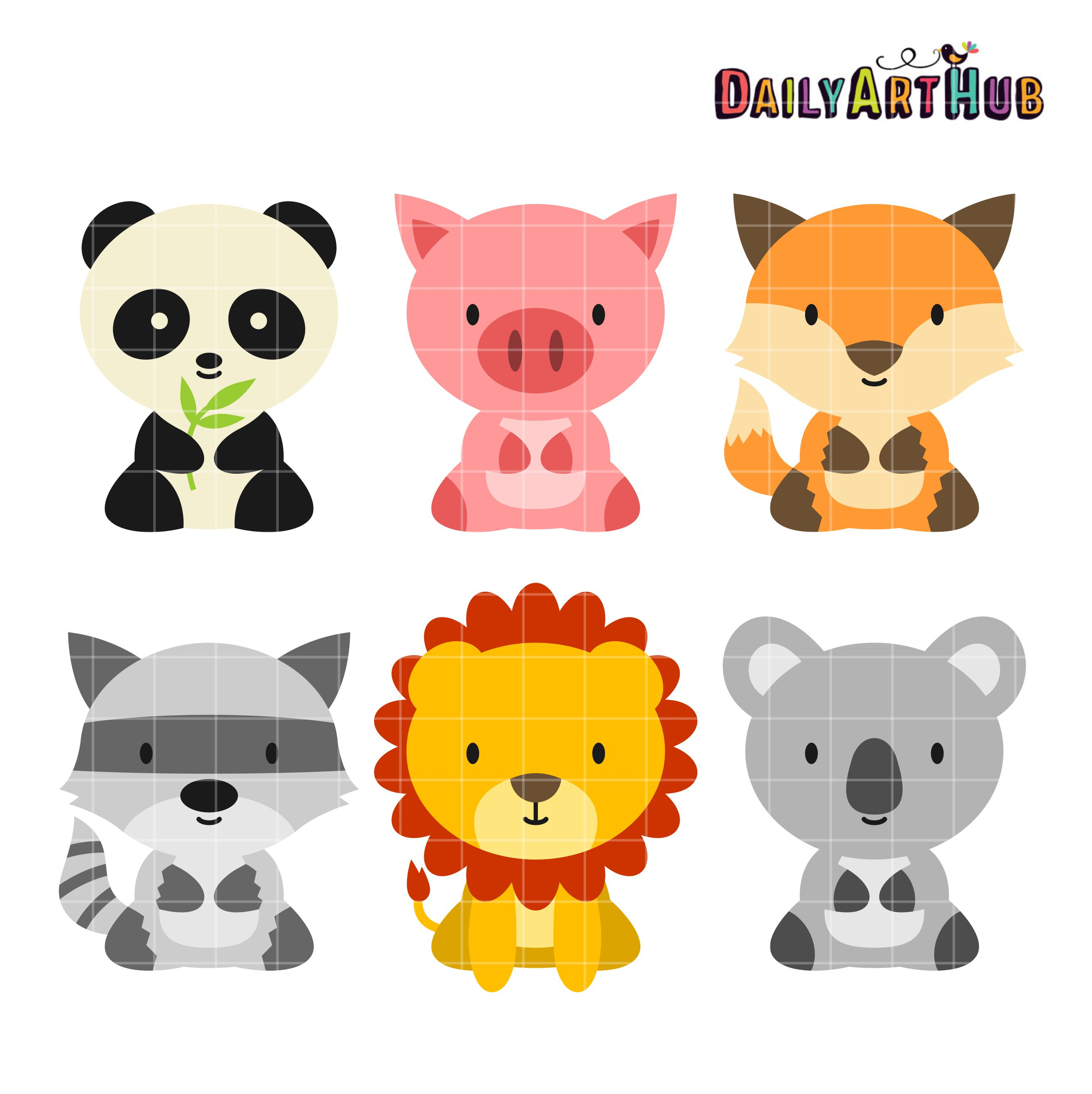 Baby animals clipart