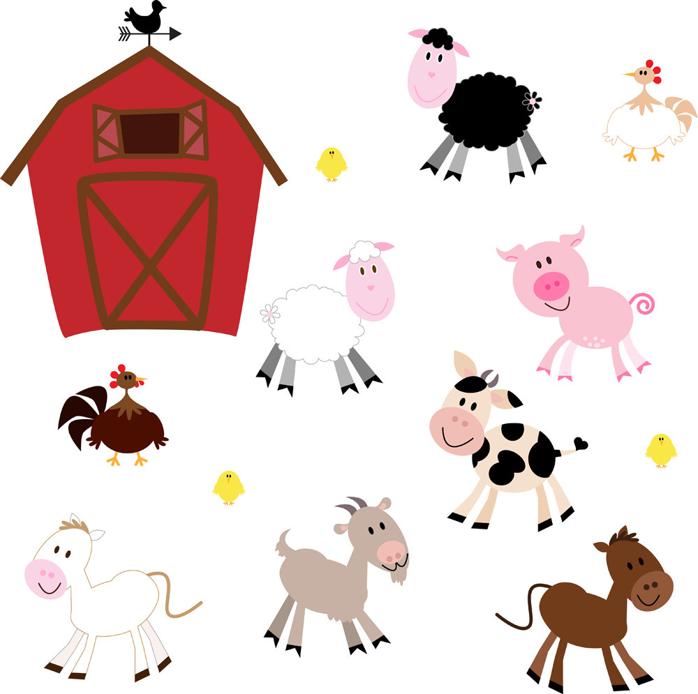 Cute farm animals clipart kid 3