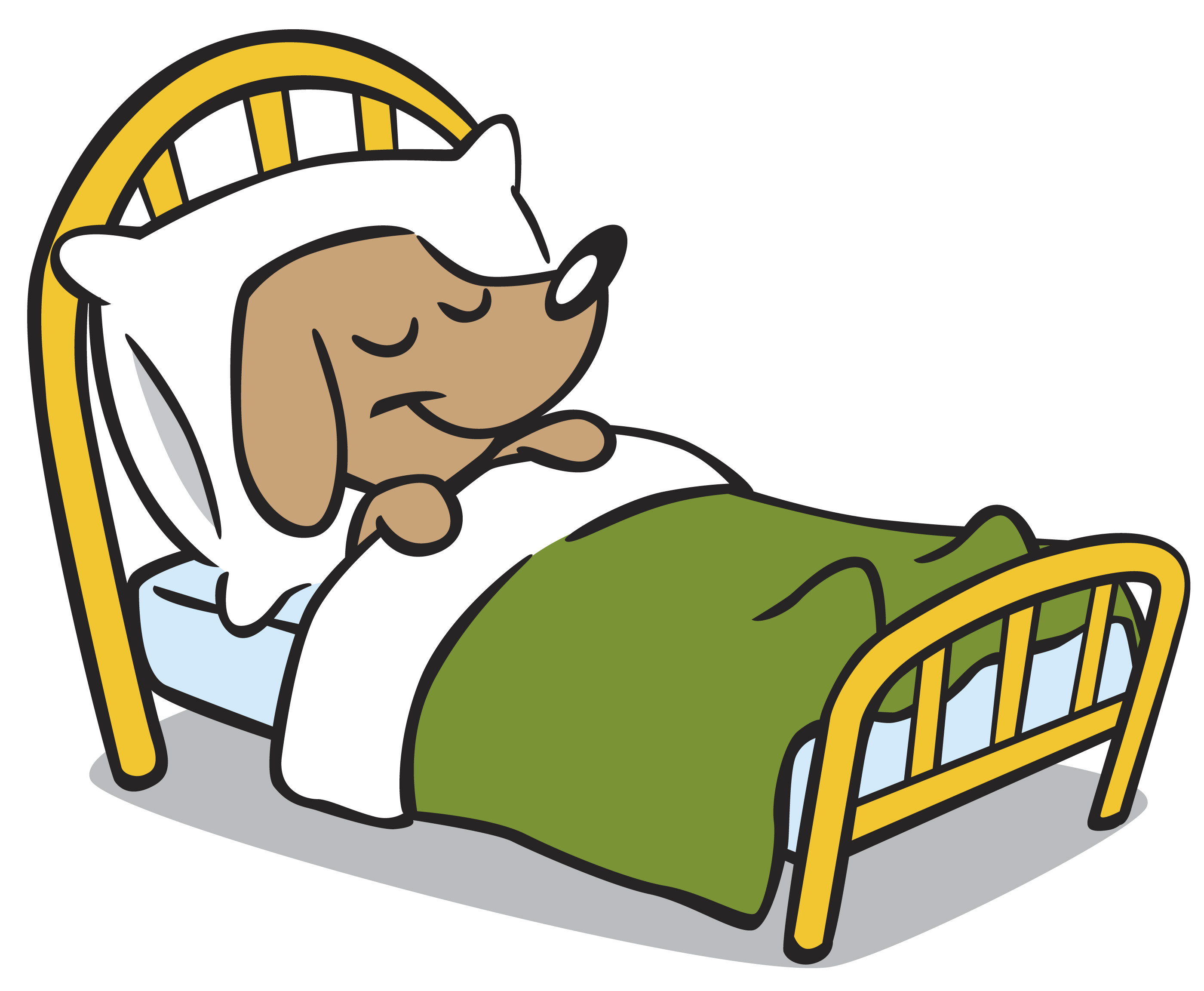 Dog sleep clipart clipartfest