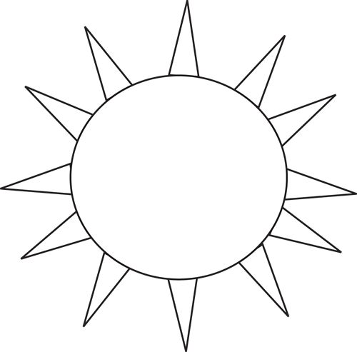 Sun  black and white black and white sun clipart clipartfest