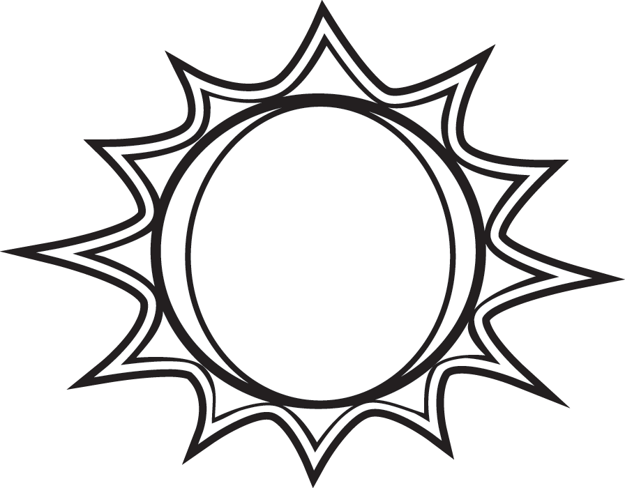 Sun  black and white black and white sun clipart free download clip art