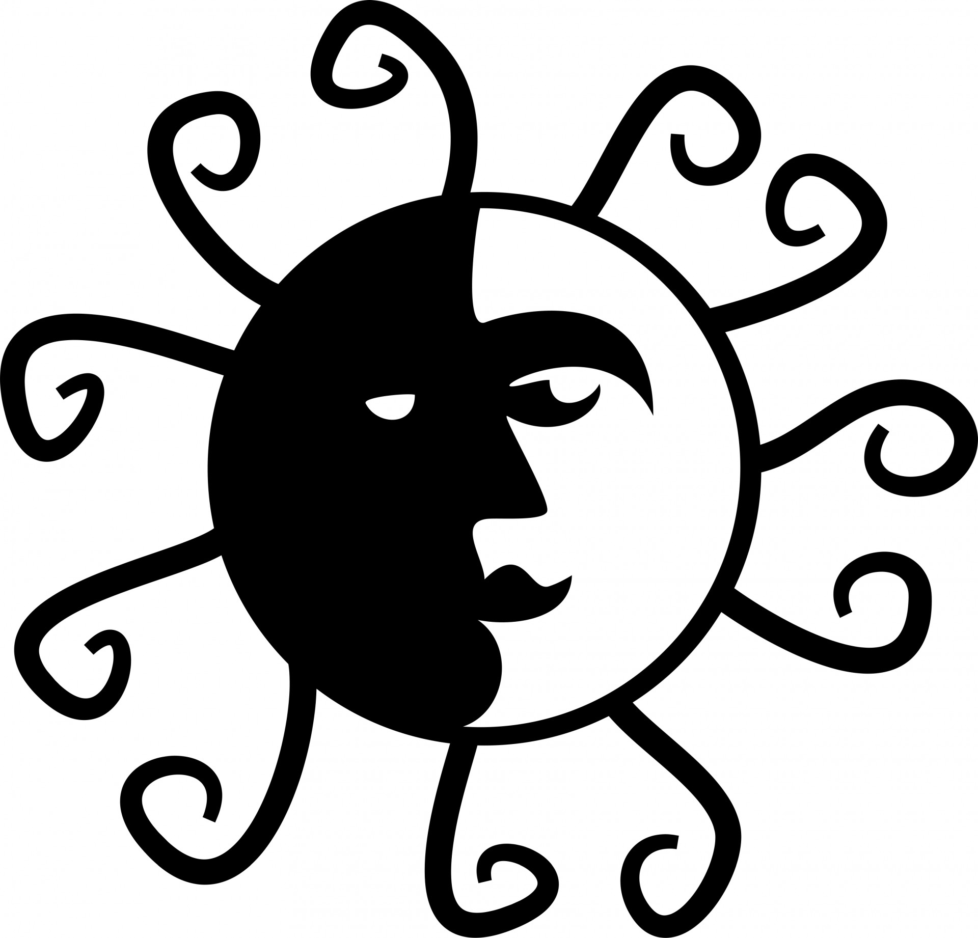 Sun  black and white black sun clipart clipartfest