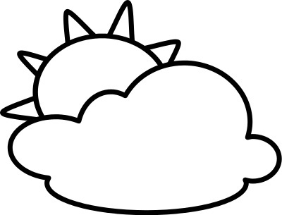 Sun  black and white cloud and sun clipart black white clipartfest 5