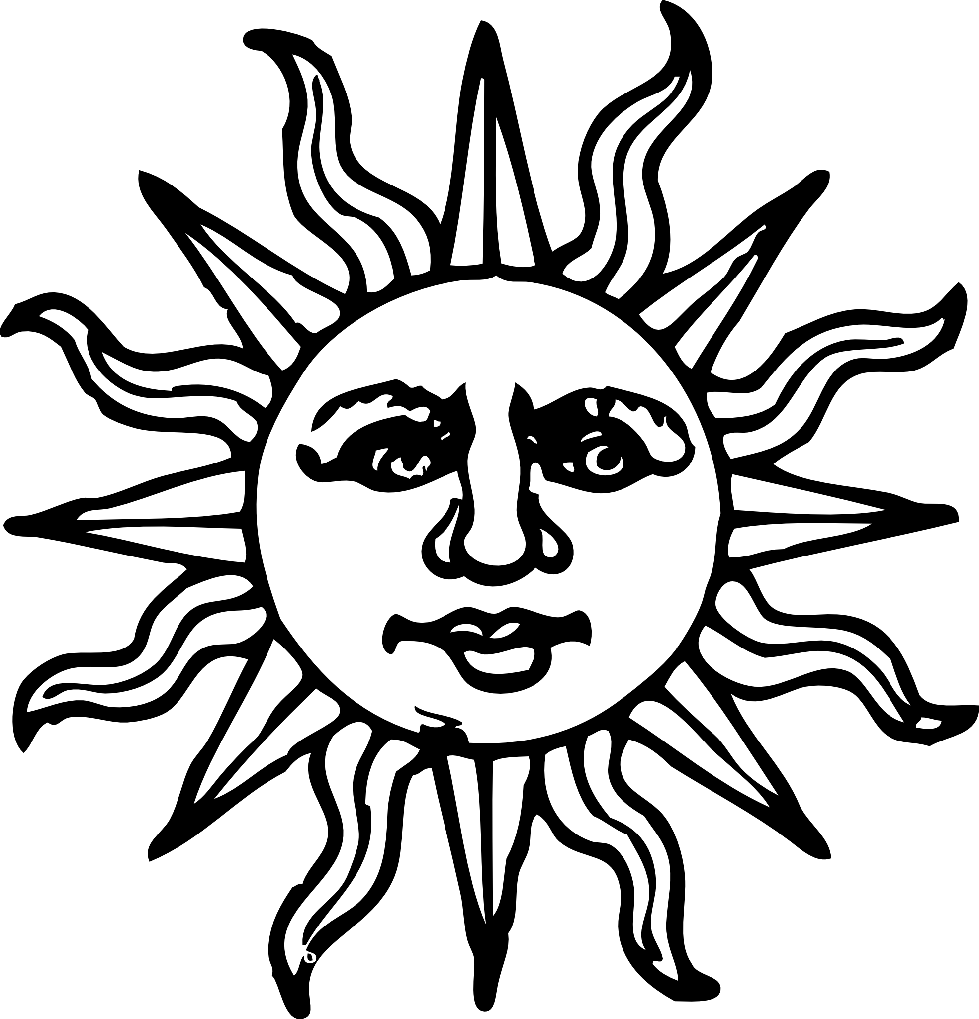 Sun  black and white happy sun clipart black and white free 2