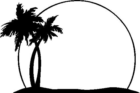 Sun  black and white palm tree with sun clipart black and white clipartfest