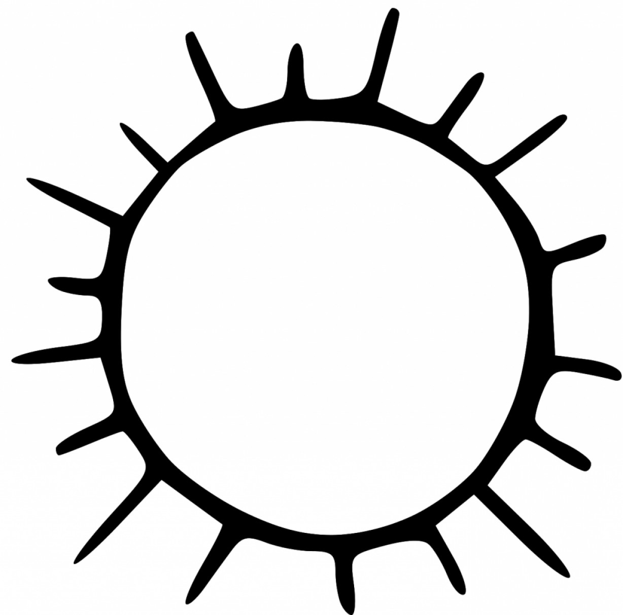 Sun  black and white top free clipart sun black and white picture vectorealy 2