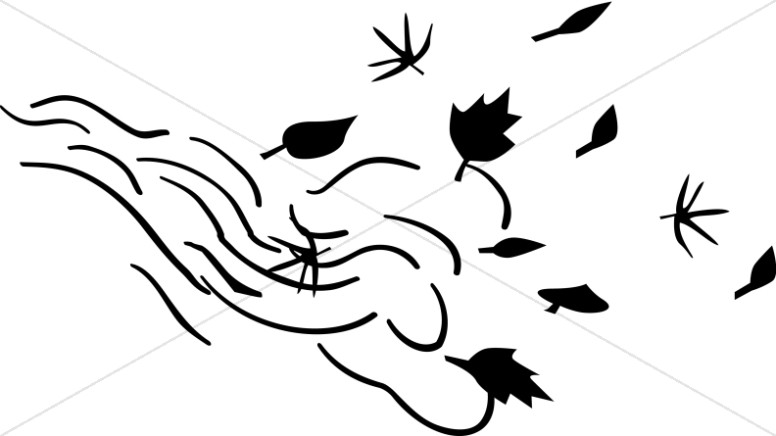 Wind black and white clipart kid