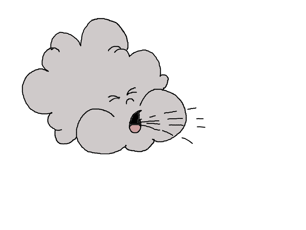 Wind blowing clipart kid 2