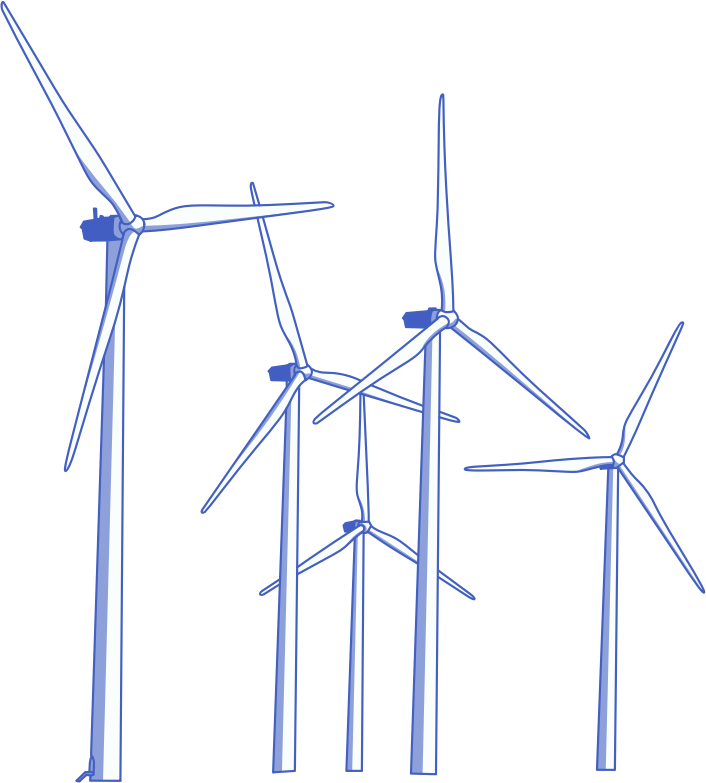 Wind turbine clip art 2