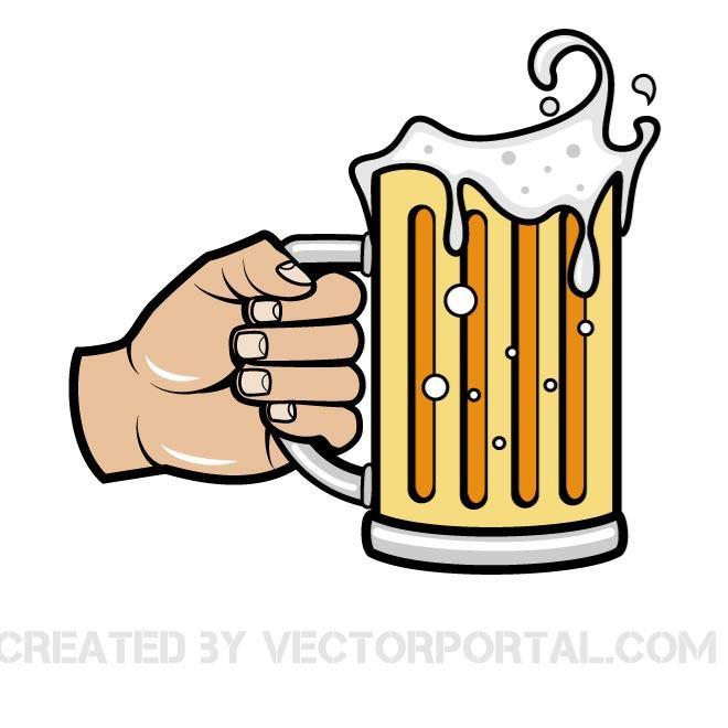 Beer mug vector illustration vectors dibujo clipart
