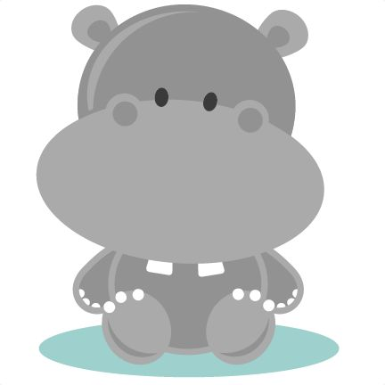 Cute hippo clipart logo more 2