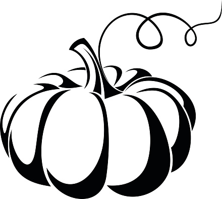 Pumpkin black and white black and white pumpkin clip art ...