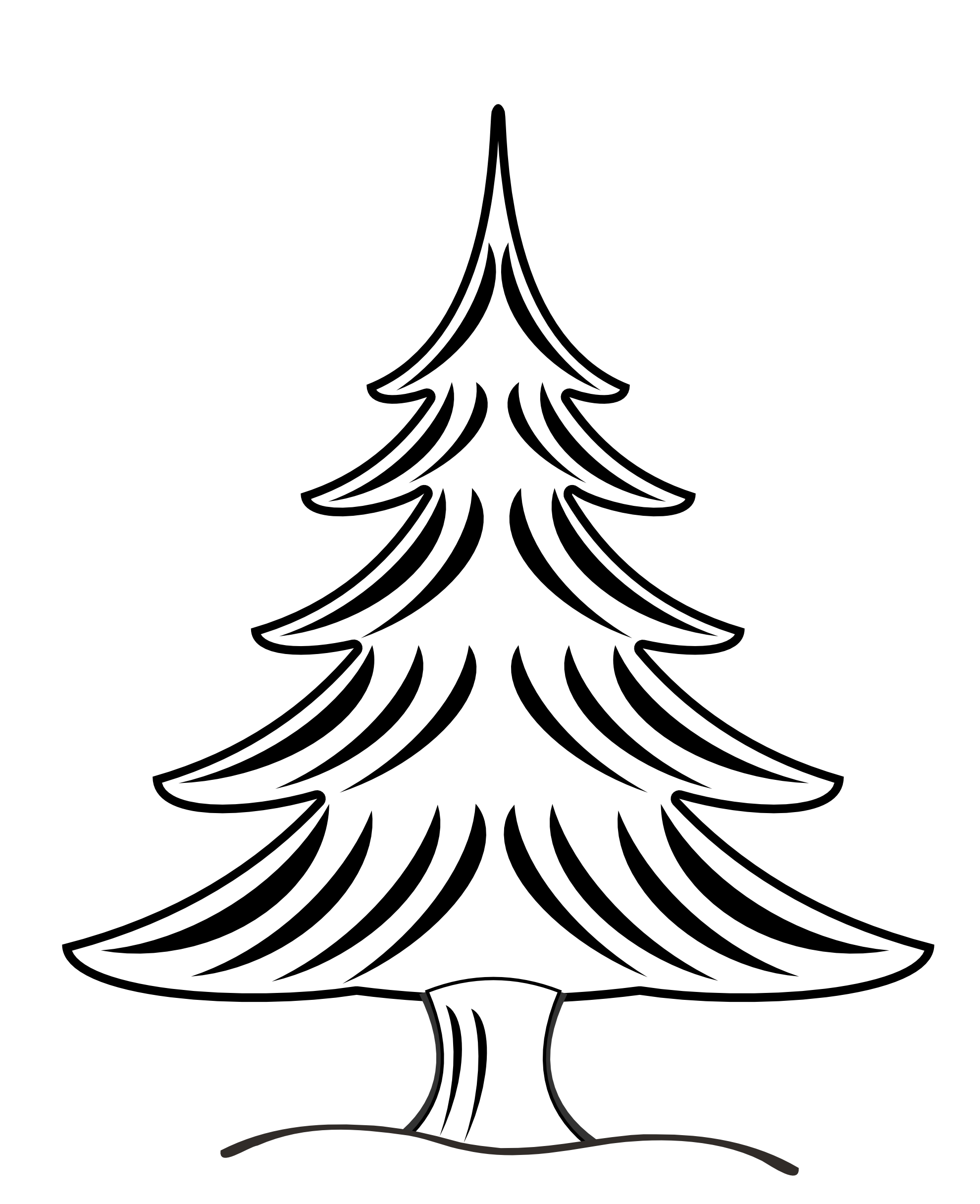 Tree  black and white christmas tree clipart black and white