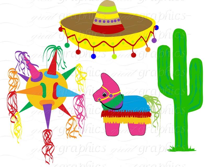Mexican sombrero clipart 3