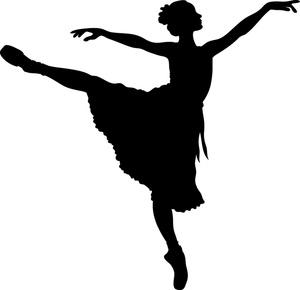 Ballerina ballet dancer clipart silhouette free images