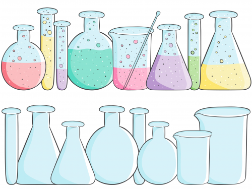 School clipart beakers empty full chemistry