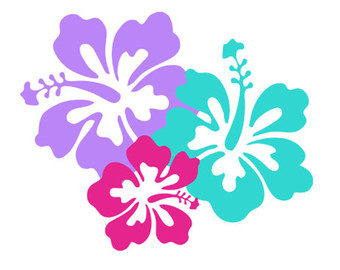 Hibiscus silhouette svg dxf file instant download cameo clip art