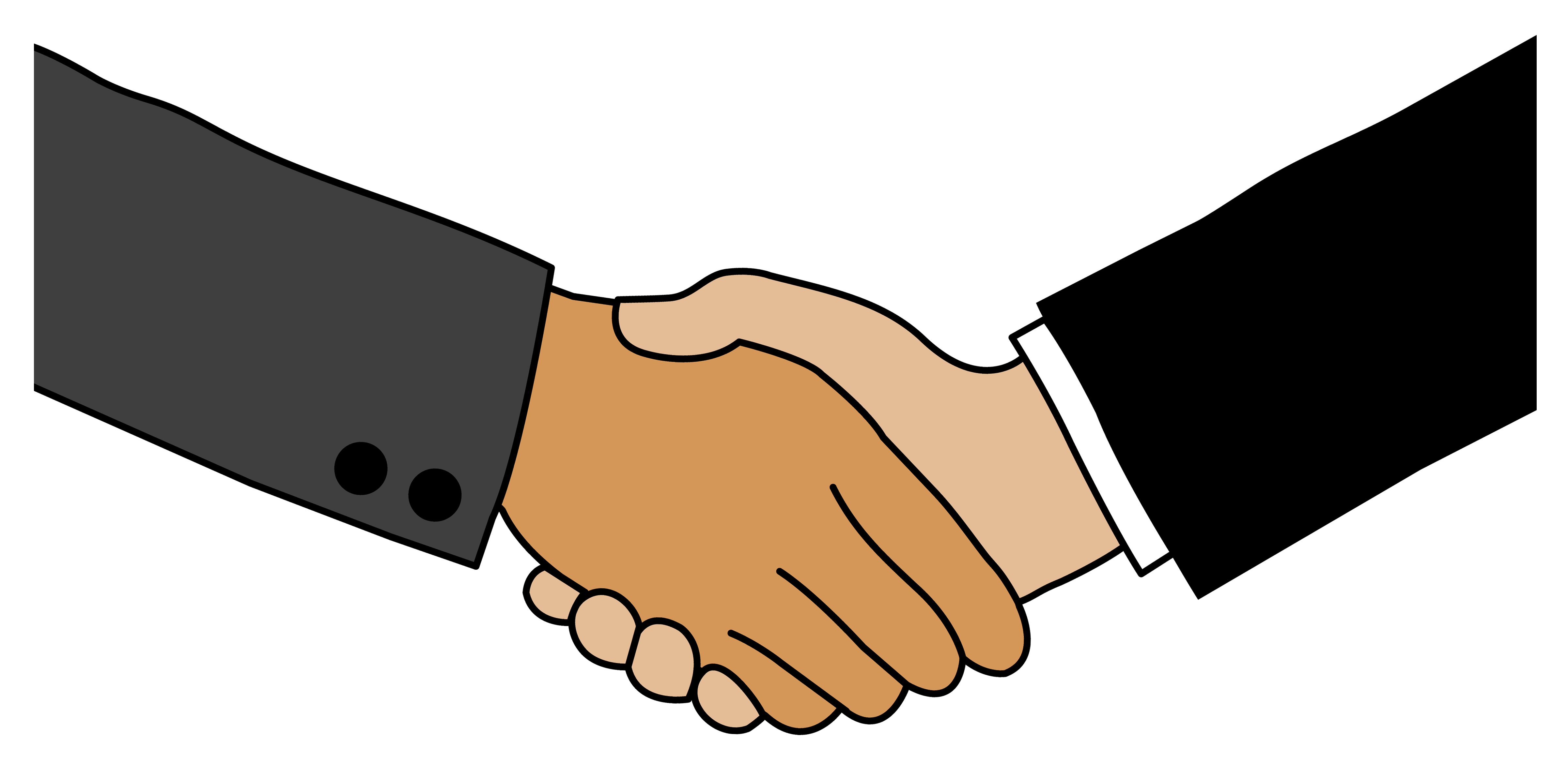 Business handshake free clip art