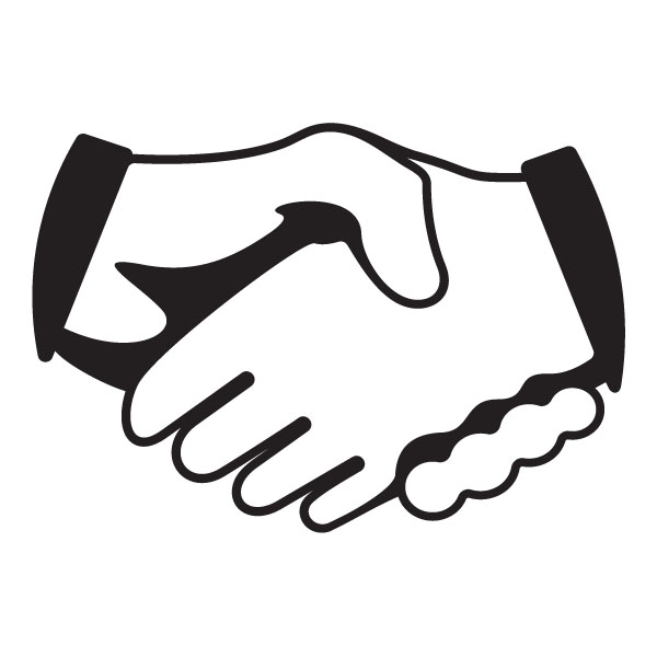 Handshake motivational clip art image