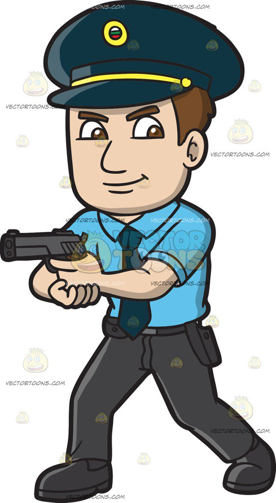 A hungarian police officer cartoon clipart vector toons