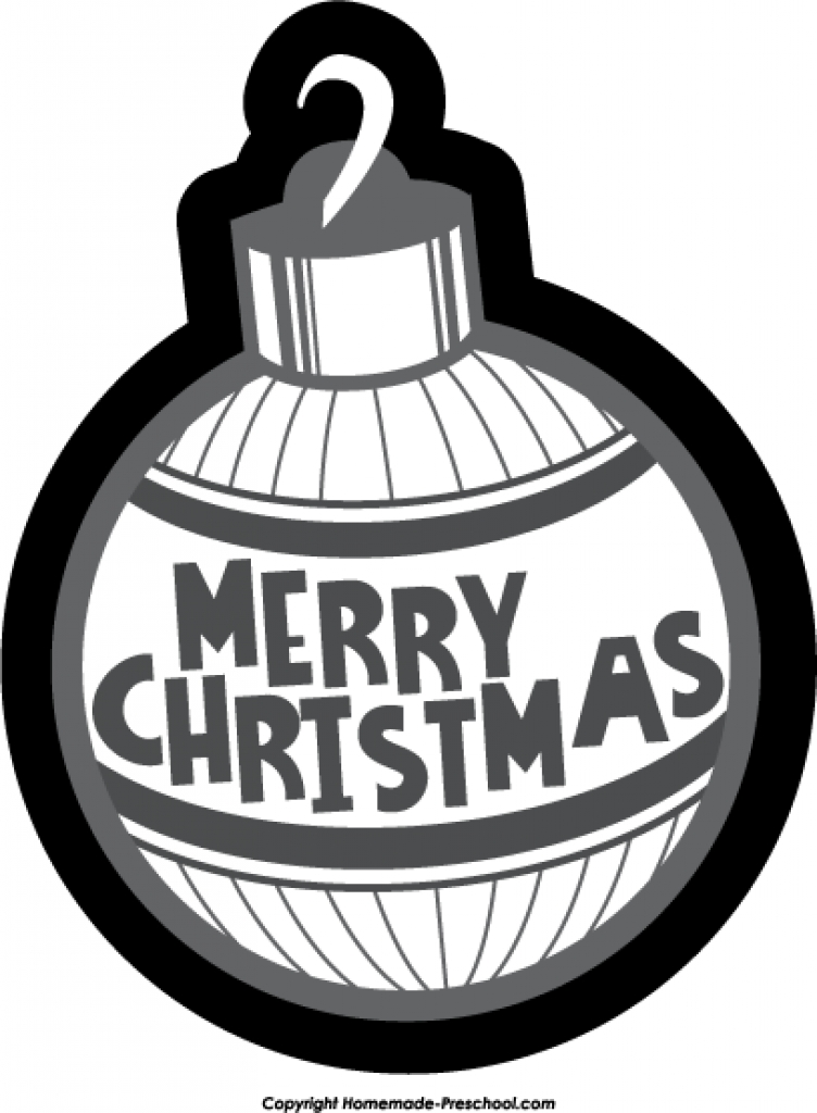 Christmas ornament black and white designcorner clip art