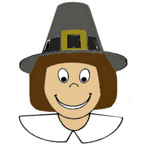 Clipart graphic of a pilgrim boy