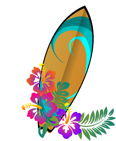 Free surfboard clipart image tabla surf clip art