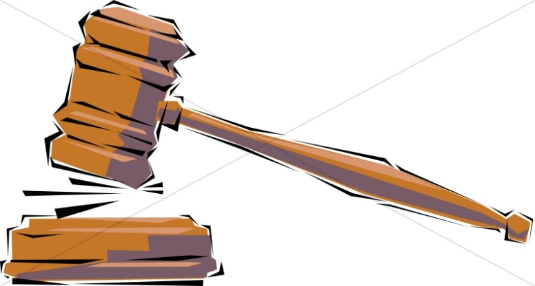 Judges gavel clipart