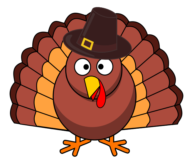 Thanksgiving turkey pilgrim hat holiday clip art