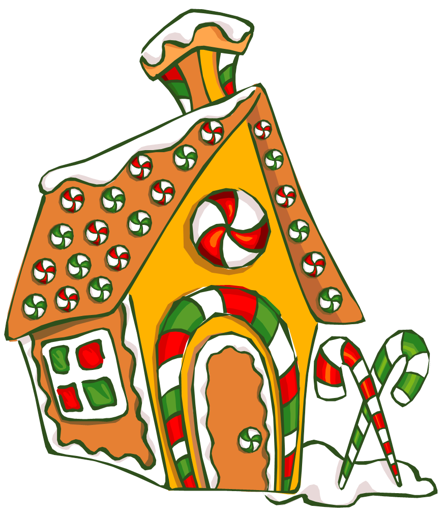 Build a gingerbread house quarryville library clipart