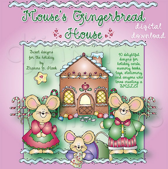 Gingerbread house a sweet holiday clip artllection by dj inkers