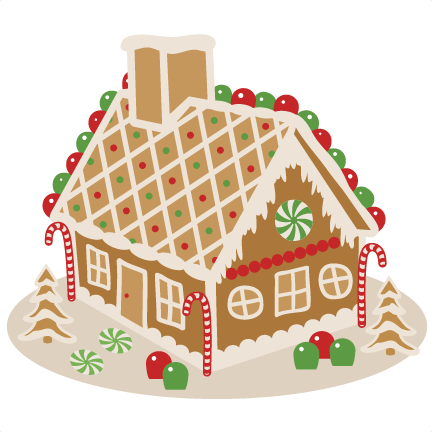Gingerbread house svg scrapbook cut file cute clipart files for 2