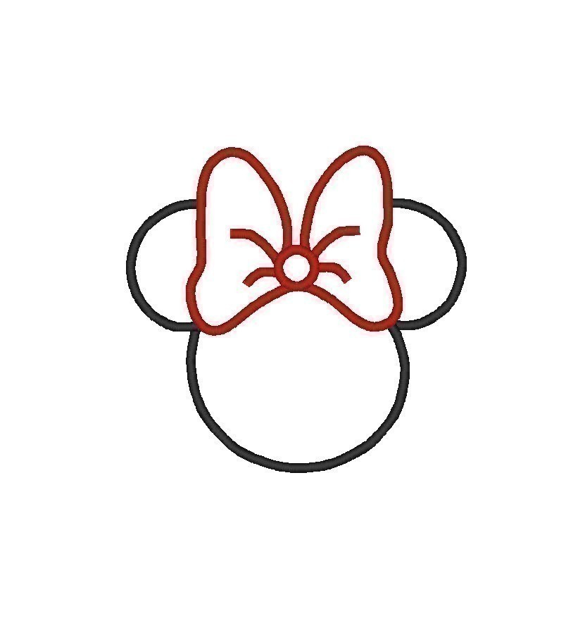 Minnie mouse head outline free download clip art 4