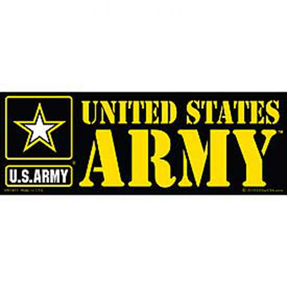 Us army logo bumper sticker jpg
