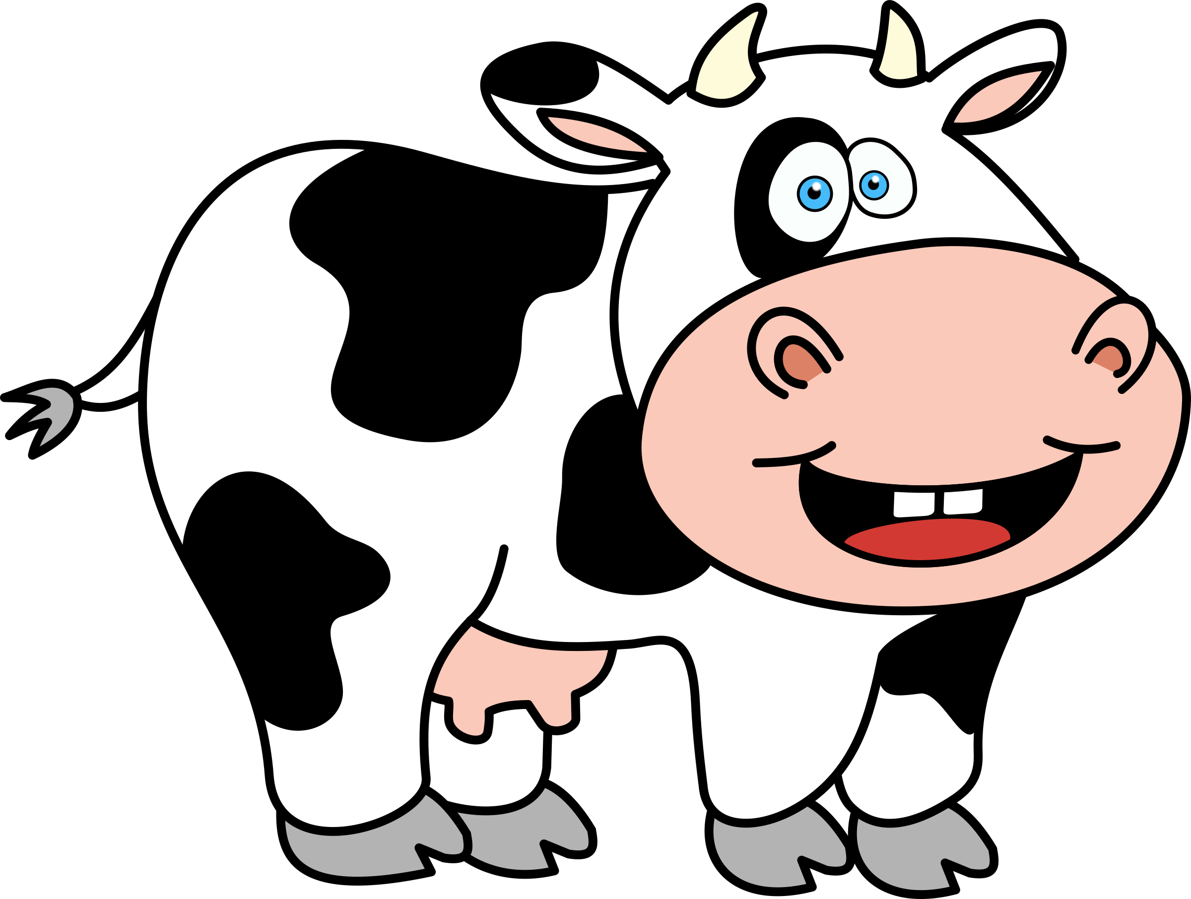 cartoon cow Funnyw icons free and downloads png