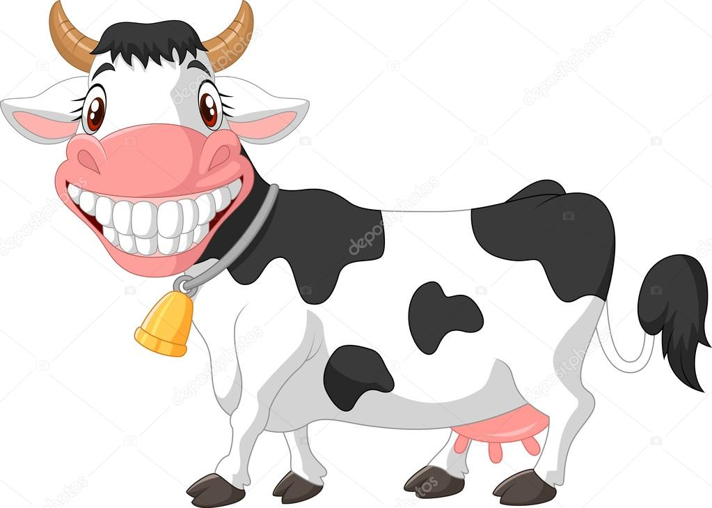 cartoon cow Happy cartoonw stock vector tigatelu jpg