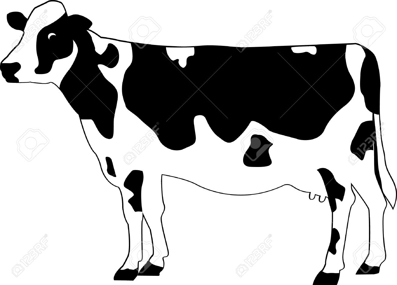 cartoon cow Drawn cattle cartoon pencil and inlor drawn jpg