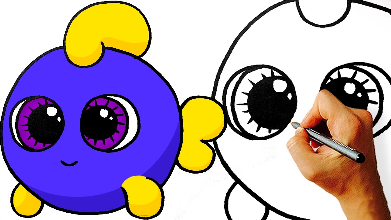 Easy how to draw cute cartoon fish step by art for kids jpg