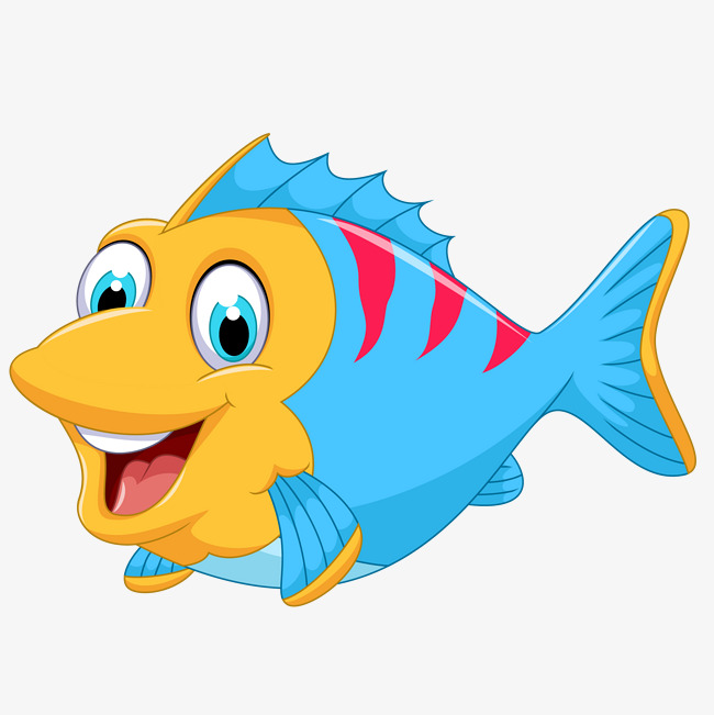 Cute cartoon marine fish vector cartoon fish lovely marine jpg