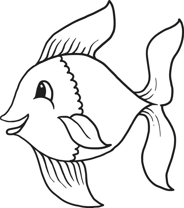 Fish images forloring printable cartoon fishloring page for jpg